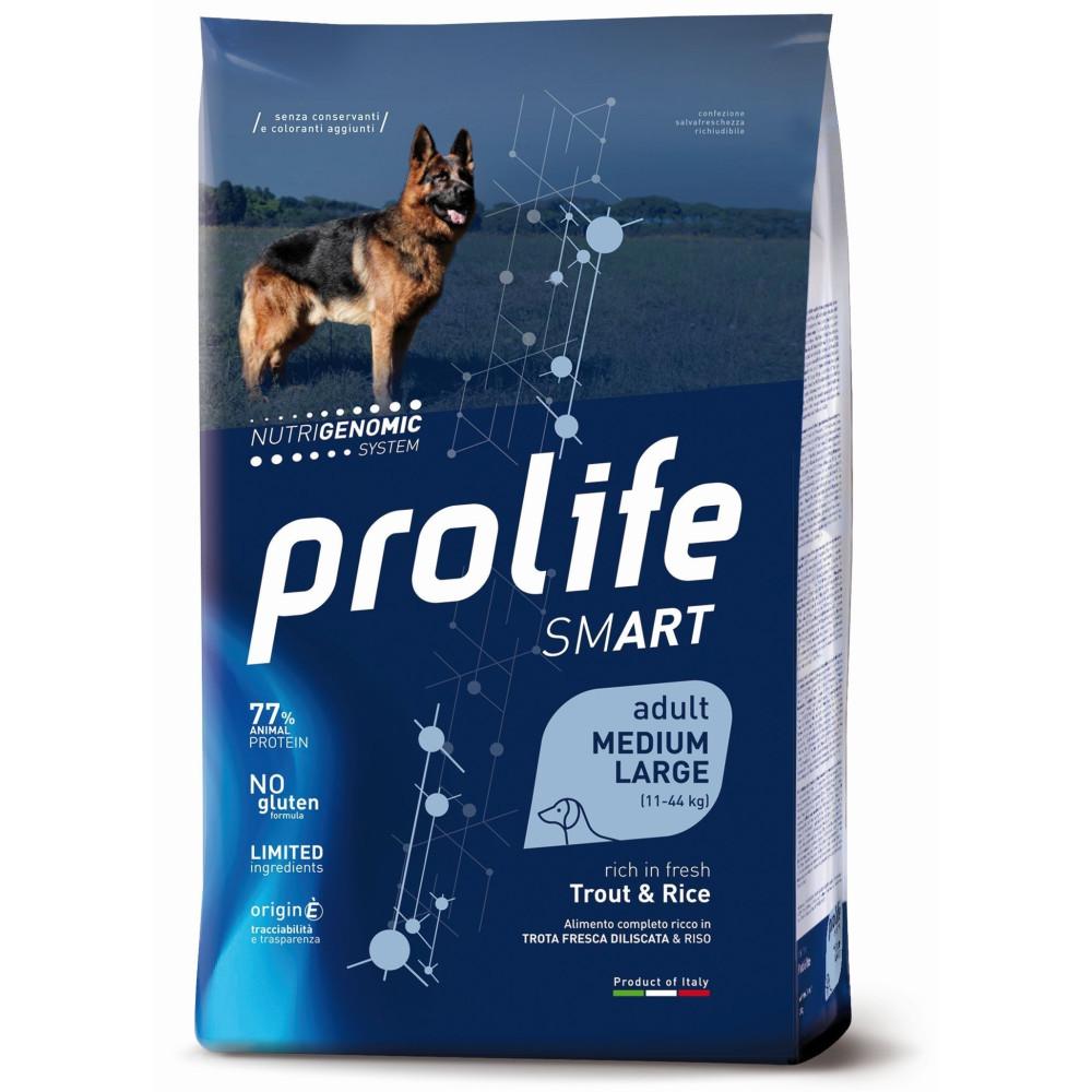 PROLIFE DOG ADULT MED-LARGE TROTA KG.12