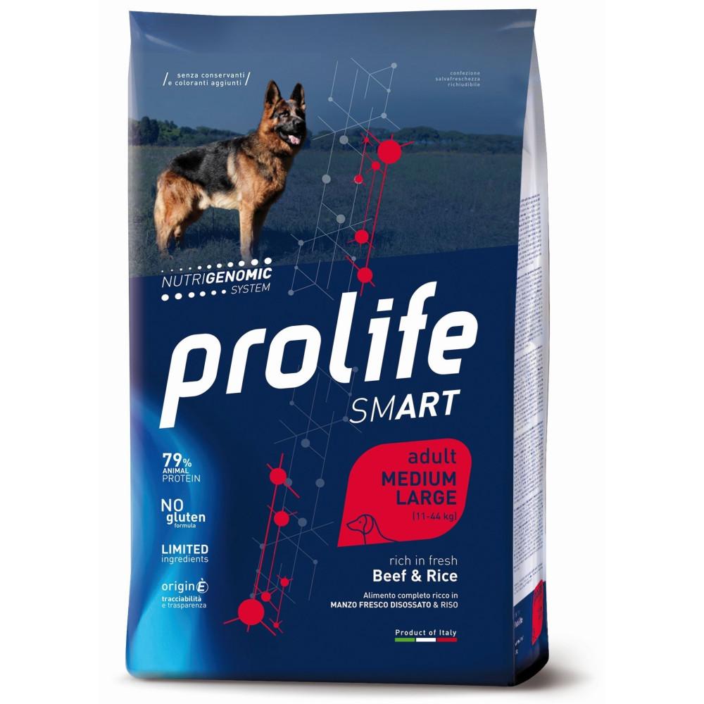 PROLIFE DOG ADULT MED-LARGE MANZO KG.12