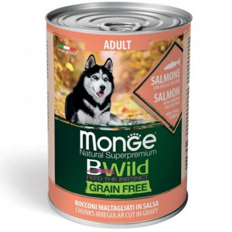 MONGE DOG GRAIN FREE ADULT SALMONE G.400
